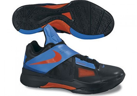 Nike KD 4 Black / Team Orange - Blue