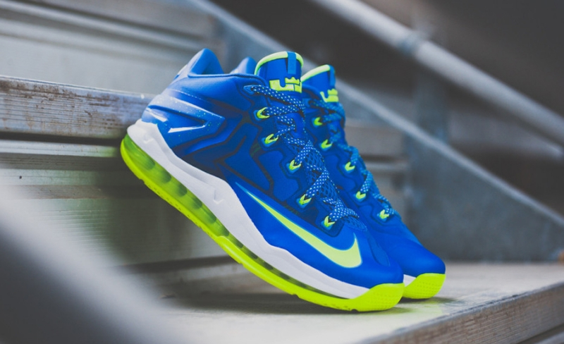 outlet store 8add8 f724c ShoeFax - Nike Lebron 11 Low Sprite / Hyper Cobalt