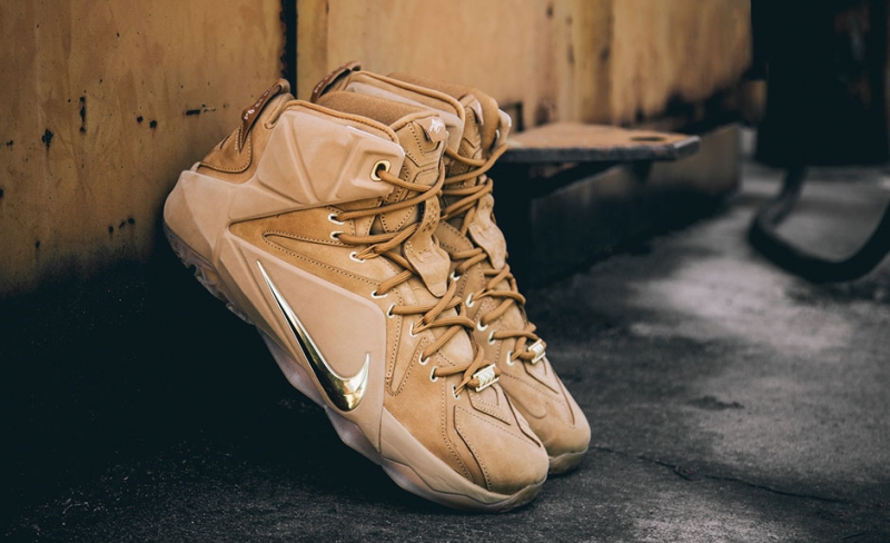 ec7045a91423 ShoeFax - Nike LeBron 12 EXT Wheat