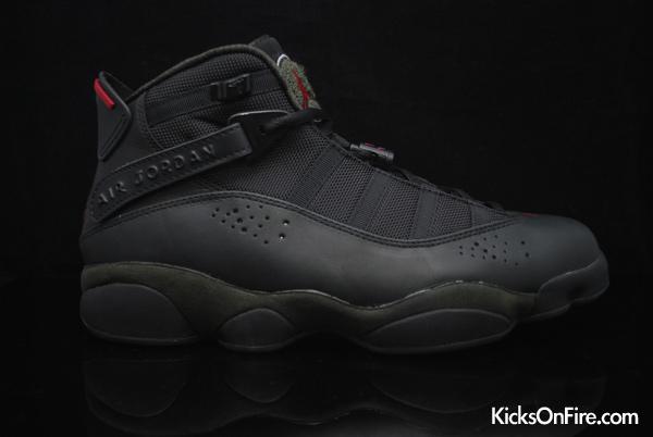 a36eca51f39b ShoeFax - Air Jordan 6 Rings Black   White - Dark Army